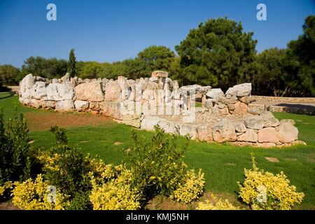 Binaparratxet Petit. Archeologic site from about 9th century B. C. Mahon airport, situated at the south departure - Stock Photo