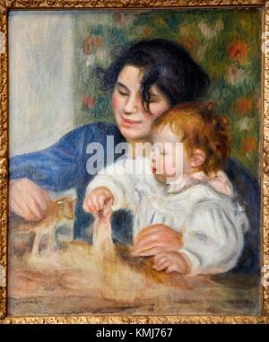 Gabrielle et Jean, 1895-1896, Pierre Auguste Renoir, Musee d´Art Moderne, Troyes, Champagne-Ardenne Region, Aube - Stock Photo