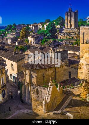France, Aquitaine, Gironde. Saint Emilion. - Stock Photo