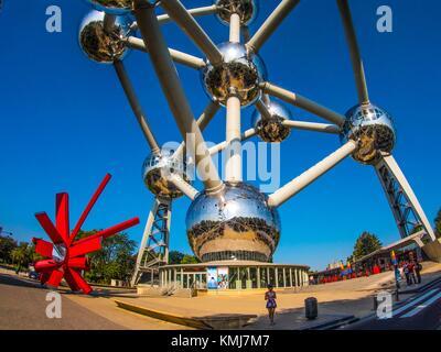 Belgium, Brussels, the Atomium, World Fair 1958 item... - Stock Photo