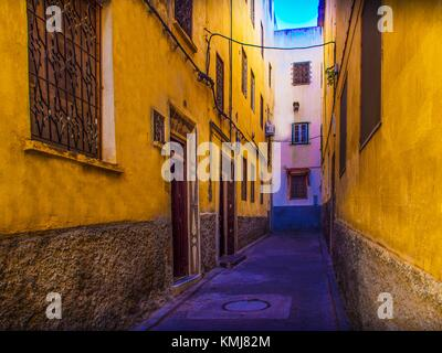 Morocco, Fes, street in the Ziat area, 'Medina' (old part) of Fes. - Stock Photo