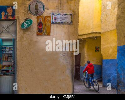 Morocco, Tangier, in the 'Medina' (old part) of Tangier. - Stock Photo