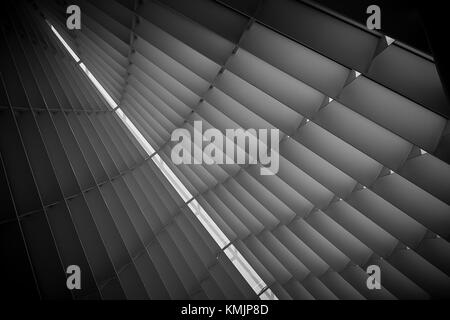 A closeup view from Windhover Hall, Milwaukee Art Museum…this exquisitely beautiful place took my breath away! - Stock Photo