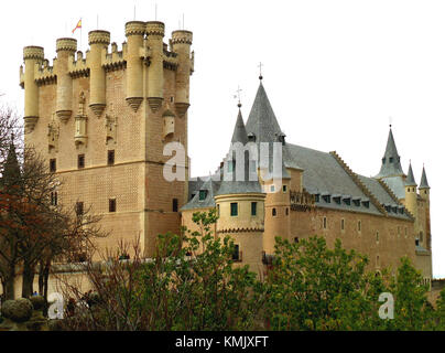 The Alcazar of Segovia, UNESCO World Heritage Site in Segovia of Spain - Stock Photo