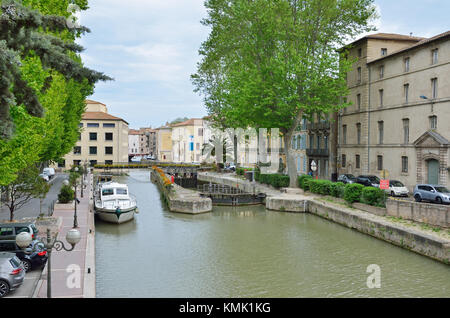 Canal de la Robine in Narbonne - Stock Photo