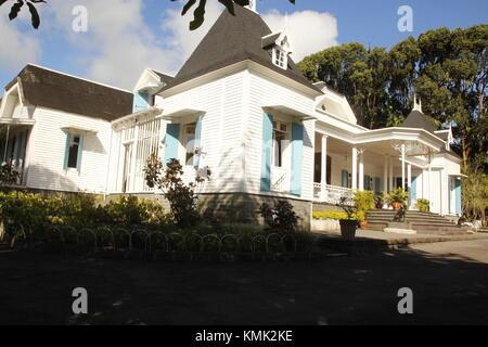 Le Domaine des Aubineaux, Située à Forest Side, à côté de Curepipe, la demeure des Aubineaux fut érigée en 1872. - Stock Photo