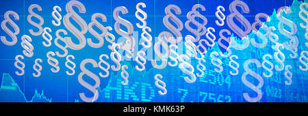 Vector icon of section symbol against stocks and shares - Stock Photo
