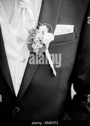 The modern tuxedo with a cloth and a bag - Stock Photo