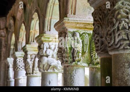 Cloister of the Santa Juliana collegiate church, Santillana del Mar, Cantabria, Spain, Europe - Stock Photo