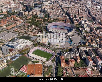 Sports facilities of Football Club Barcelona. Camp Nou. - Stock Photo