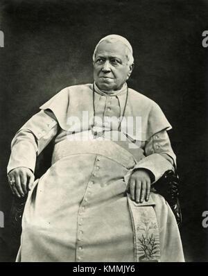 Portrait of Pope Pius IX by Braun, 1878 - Stock Photo