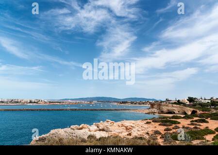 Beautiful sea view near Carvoeiro in algarve, Portugal - Stock Photo