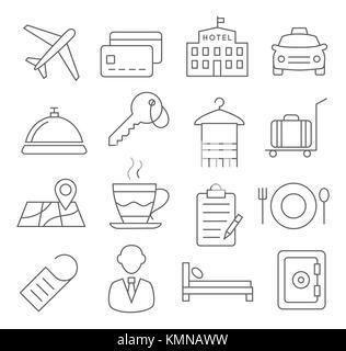 Hotel Line Icons - Stock Photo