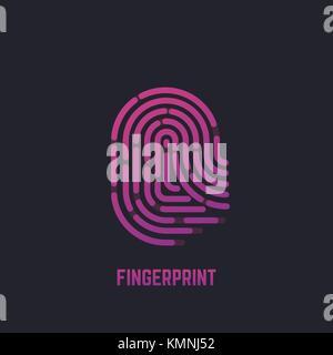 Fingerprint gradient logo - Stock Photo