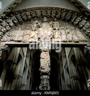 Pórtico de la Gloria. Cathedral. Santiago de Compostela. La Coruña province. Galicia. Spain