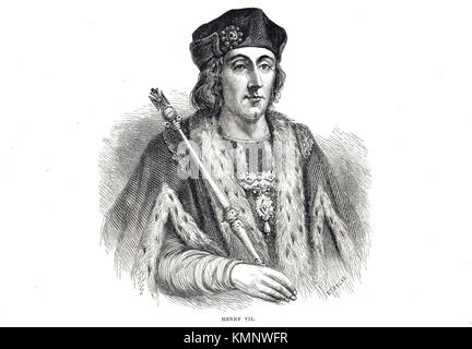 King Henry VII of England, 1457-1509, reigned 1485-1509 - Stock Photo