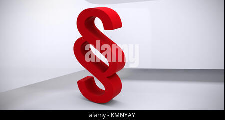Vector icon of section symbol against abstract room - Stock Photo