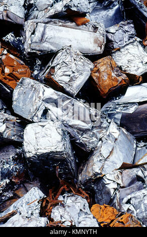 Junk. pressed steel sheet metal. Santurtzi. Biscay. Basque Country. Spain - Stock Photo