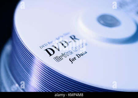 DVD-R Recordable disc - Stock Photo