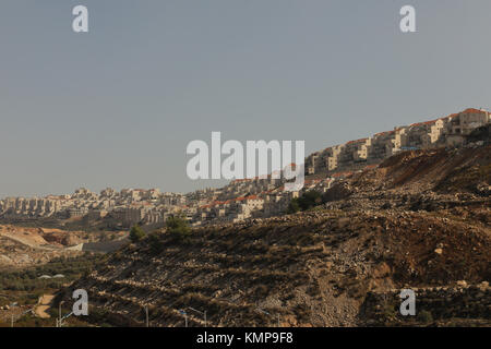 Israeli settlements,Wadi Fukin, Palestine, West Bank, Israel, Middle East. - Stock Photo