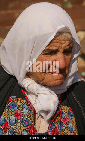 Elderly Palestinian Woman,Wadi Fukin, Palestine, West Bank, Israel, Middle East. - Stock Photo