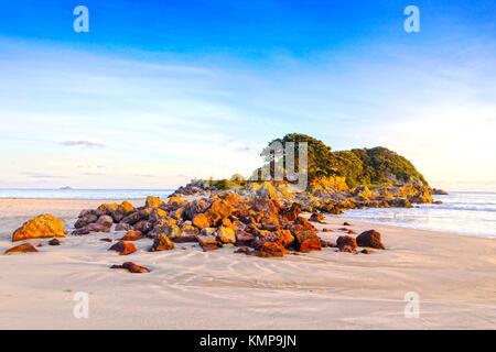 Beach, Mount Maunganui, Bay of Plenty, New Zealand. - Stock Photo