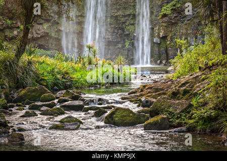 The Hatea River below the Whangarei Falls in Northland, New Zealand. - Stock Photo