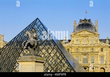 Louvre Museum. Paris. France - Stock Photo