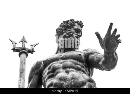 Italy, Bologna, BO - April 2, 2016-photograph from the bottom of the sculpture of Neptune located in Piazza Maggiore, - Stock Photo