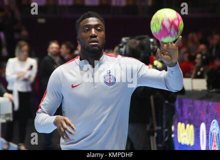 Nantes, France. 07th Dec, 2017. Luc Abalo (Paris Saint Germain) during the French Championship Lidl StarLigue Handball - Stock Photo