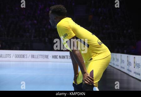 Nantes, France. 07th Dec, 2017. Luc Abalo n (Paris Saint Germain) in action during the French Championship Lidl - Stock Photo