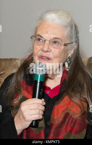 New York, USA. 8th December, 2017. Actress Lois Smith attends questions and answers after screening movie Marjorie Prime at Core CLub Credit: lev radin/Alamy Live News