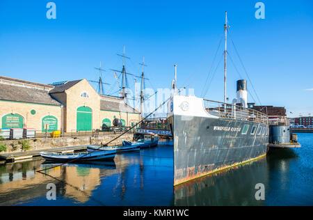 england hartlepool england National Museum of the Royal Navy historic dockyard Hartlepool marina hartlepool county - Stock Photo