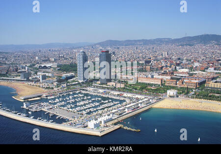 Olympic Village. Barcelona. Spain - Stock Photo