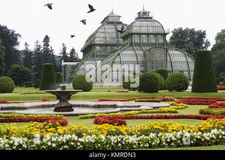 Palmenhaus (greenhouse), Schloss Schönbrunn, Vienna. Austria - Stock Photo
