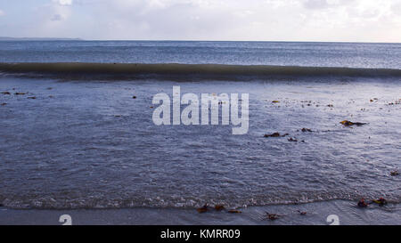 Cold clear winters day on the beach - Stock Photo