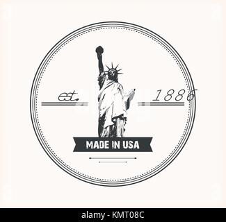 Liberty Statue vector logo - Stock Photo