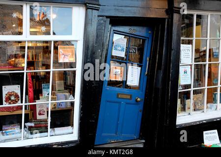 quirky shop front door in city of canterbury kent uk dec 2017 - Stock Photo