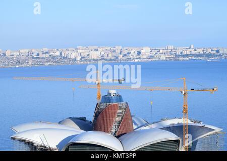 Baku.Azerbaijan.09 November 2017. The Caspian Waterfront Mall is located on the shore of the Caspian Sea, in Azerbaijan's - Stock Photo