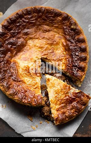 Steak beef gravy pie - Stock Photo