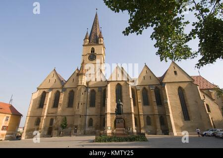 Sibiu, Evangelic Church, Transylvania, Romania - Stock Photo