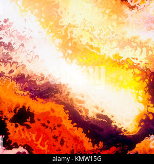 Burning clouds, red flames, abstract illustration