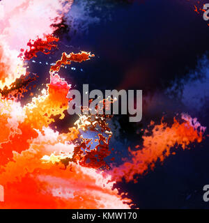 Burning flames explosion abstract background illustration