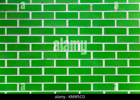 Green brick background - Stock Photo