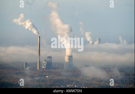 Coal-fired power plant, STEAG and RWE Power, joint power station Bergkamen A oHG, electricity, district heating, - Stock Photo