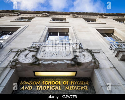 London School of Hygiene & Tropical Medicine, Bloomsbury, London. The art deco style building opened in 1929, architects - Stock Photo