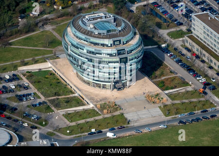 Office tower Heise headquarters in Hanover in spherical form, Heise Medien GmbH & Co KG, Heise Media Service GmbH - Stock Photo
