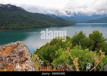 Tranco reservoir Sierra de Cazorla Segura y Las Villas Natural Park Jaen province Andalusia Spain Europe - Stock Photo