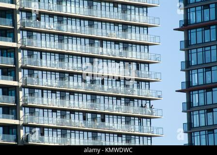 Woodwards apartment towers, downtown, Vancouver, BC, Canada - Stock Photo