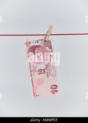 10 Turkish lira - Stock Photo